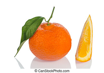 orange isolated on white background - an orange sits on a...