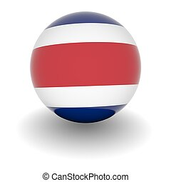 High resolution ball with flag of Costa Rica - 3D Ball with...