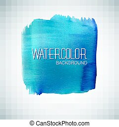 Blue watercolor banner - vector illustration - Watercolor...