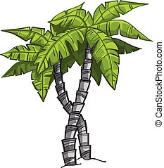 Cartoon banana tree