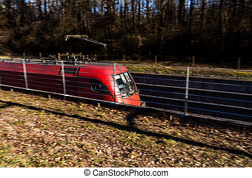 freight train - a freight train from the oebb in austria