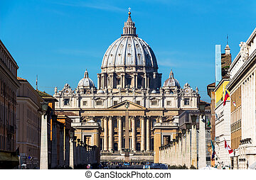 italy, rome, st. peters basilica. view from outside