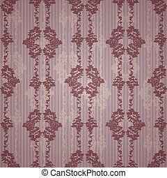 Luxury ornamental floral wallpaper