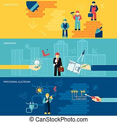 Construction Professions Banners - Construction professions...