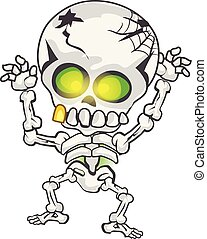 Illustration of funny skeleton