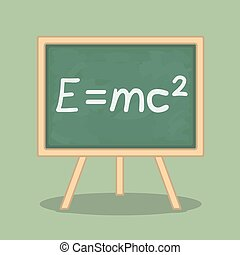 Formula of Energy - Formula of energy pn blackboard, vector...