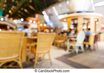 Blurry restaurant - Blurred restaurant background by out of...
