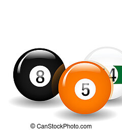 Pool Balls - Pool ball illustration Available in jpeg and...