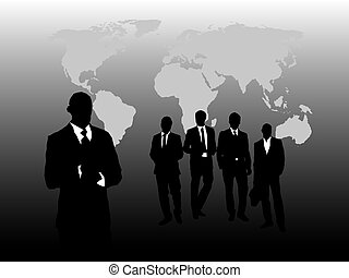 Business Men - Business men silhouette design. Available in...