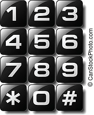 Telephone keypad design available in both jpeg and eps8...