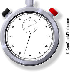 Stopwatch - Illustration of a stopwatch Available in both...
