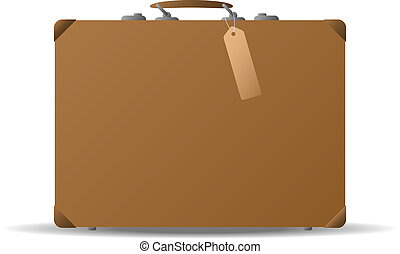 Suitcase - Illustration of an old fashioned suitcase....