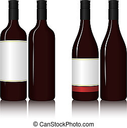Wine Bottles - Illustration of wine bottles. Available in...