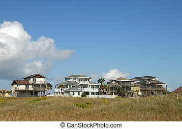 Residential houses in the southern United States