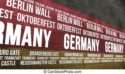 German Flag Tourism Attractions - Scrolling banner with the...