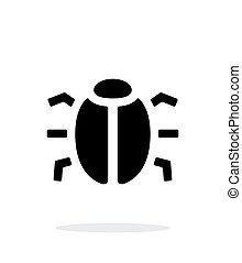 Spy bug icon on white background. Vector illustration.