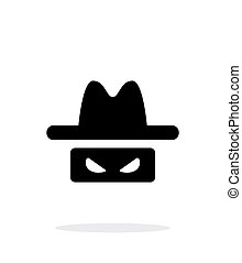 Spy icon on white background Vector illustration