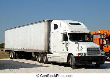 norteamericano, camión,  semi