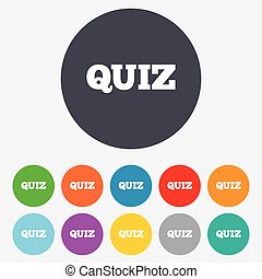 Quiz sign icon. Questions and answers game. - Quiz sign...