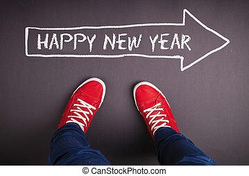 nowy, rok, boże narodzenie, Pojęcie,