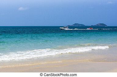Motor boat trip of tropical sea - Motor boat trip of...