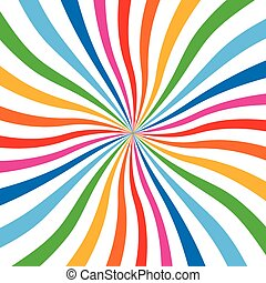 Colorful Bright Rainbow Spiral Background. Vector logo...