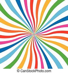 colorido, brillante, arco irirs, Espiral, fondo.,