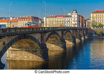 Palacky Bridge in Prague (Czech Republic) - Palacky Bridge...