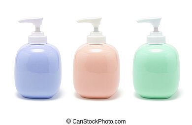 Lotion Dispensers on White Background