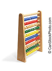 Toy Abacus on White Background