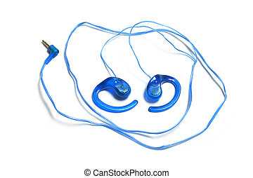 Earphones on Isolated White Background