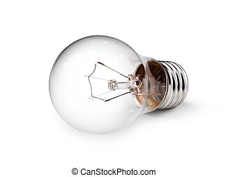 Light bulb - light bulb isolated on a white bakground