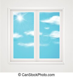 blue sky in the window