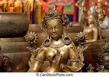 Hindu deities - characteristic statue representing major...