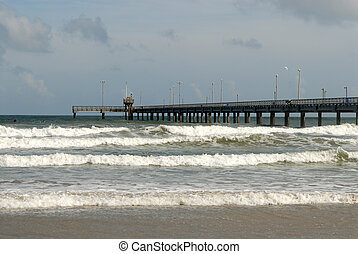 Bob Hall pier on Padre Island, Southern Texas USA