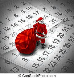 Christmas Time - Christmas time holiday concept as santa...