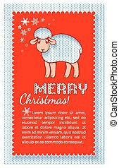 Christmas layered red card in the form of application of...