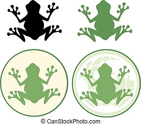 Frog Silhouette Design. Collection