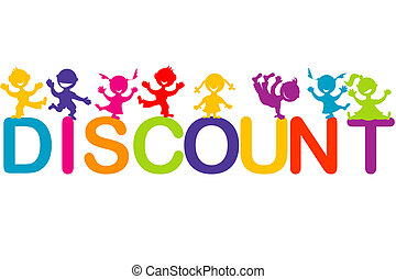 Children playing on Discount word