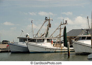 Fishing boats in Corpus Christi, Texas USA