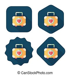 wedding box of cookies flat icon with long shadow,eps10 -...