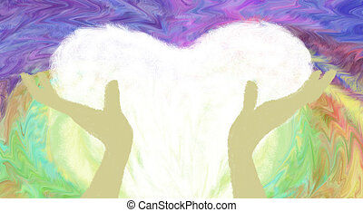 Healing Hands - An abstract illustration on Healing Hands