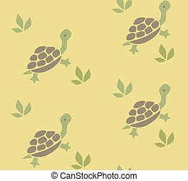 Seamless pattern with funny turtles - Seamless pattern with...