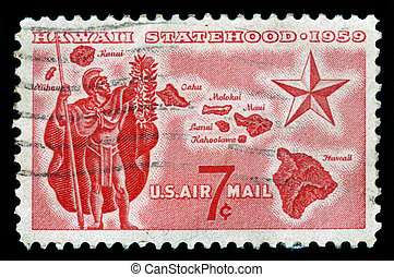 statehood of Hawaii - UNITED STATES OF AMERICA - CIRCA 1959:...