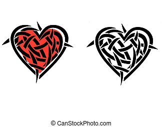 Abstract heart background Vector illustration