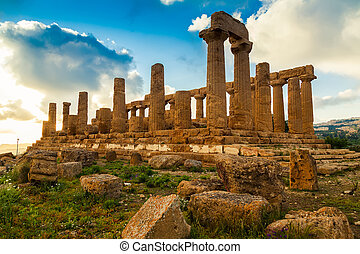 Temple of Juno - ancient Greek landmark in the Valle dei...