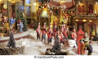 Christmas Toys Model Village - Model Village A Miniature...