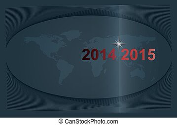 2014-2015 The Years Passing. New Year on the world globe ,...