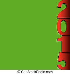 Happy New Year 2015 modern card, vector