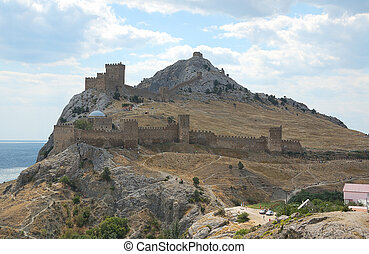 Genoese fortress - general view at Genoese fortress in...